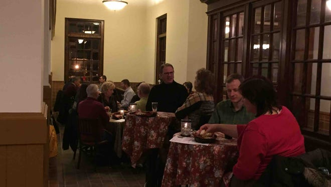 Dinners enjoy beer-infused food during a Beer Dinner at Black Cap Brewing Company in Red Lion in 2016. The brewery will host another beer dinner on Wednesday.