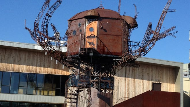 The Milton Historical Society's Four B's tours begin at the Dogfish Head Brewery Steampunk Treehouse.