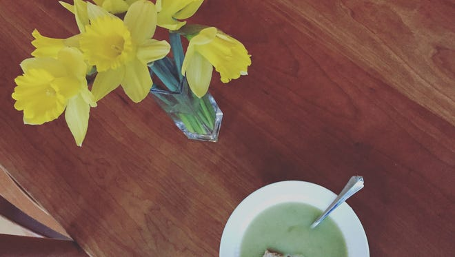 This version of potato leek soup does not rely on cream like others do.