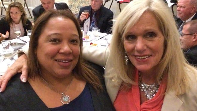 Delaware PTA President Terri Hodges (left) and VP for Advocacy Yvonne Johnson (right)