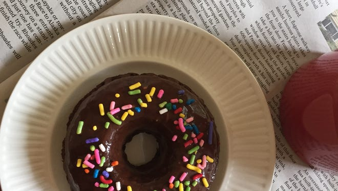 A chocolate doughnut dipped in chocolate-minute glaze is a perfect weekend indulgence, and it travels well, too.