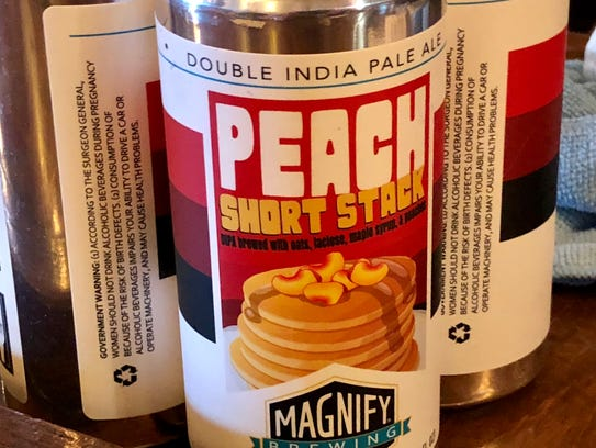 Peach Short Stack at Magnify Brewing.