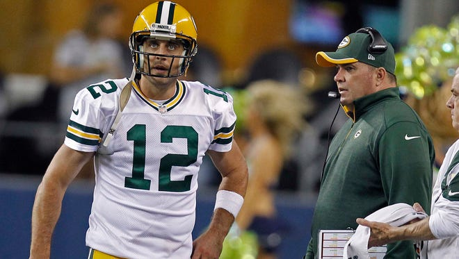 When head coach Mike McCarthy decides on plays, he's often thinking two downs ahead so he can get the call to quarterback Aaron Rodgers quickly.