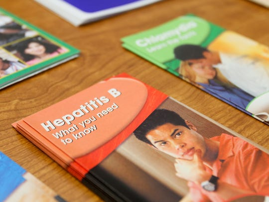 Pamphlets promoting sexually transmitted disease awareness are displayed at the Go Care clinic in West Monroe in this 2014 file photo.