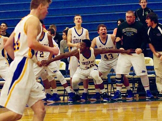 Ogo Akamelu helps Waynesboro's bench get excited during