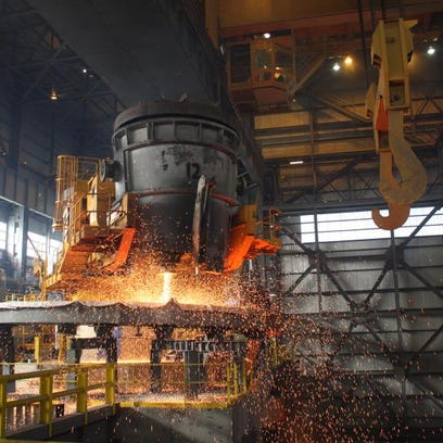 Steel is made at a Timkin plant in Ohio. Experts say