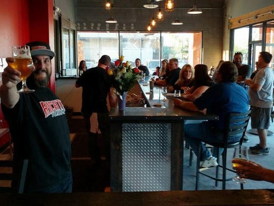 Brandon and April Richter opened Peoria's third brewery at 83rd Avenue and Lake Pleasant Parkway in 2016.