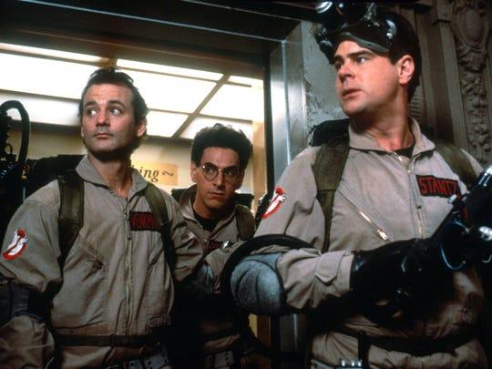"""Bill Murray, Harold Ramis and Dan Aykroyd star in """"Ghostbusters."""""""