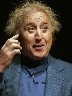 """FILE - In this March 16, 2005 file photo, actor Gene Wilder speaks about his life and career at Boston University in Boston. Wilder, who starred in such film classics as """"Willy Wonka and the Chocolate Factory"""" and """"Young Frankenstein"""" has died. He was 83. (AP Photo/Steven Senne, File)"""