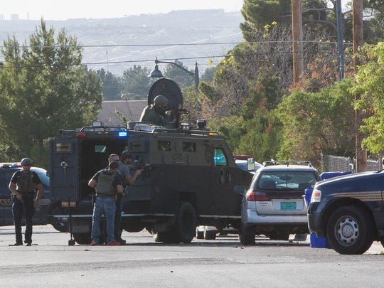 Around 1:30 p.m. Friday, Nov. 17, Las Cruces police attempted to serve felony arrest warrants on two 35-year-old men in the 700 block of East Texas Avenue. The suspects reportedly barricaded themselves in the home, according to Las Cruces police. New Mexico State Police, SWAT and LCPD were able to contact one of the wanted men who came to the home's front door. That suspect was arrested on scene around 4:15 p.m. As of 5 p.m. Friday, police were still trying to draw the second suspect out of the home. Police said other adults may have been in the home as well. As of Friday afternoon LCPD has not identified the suspects involved.