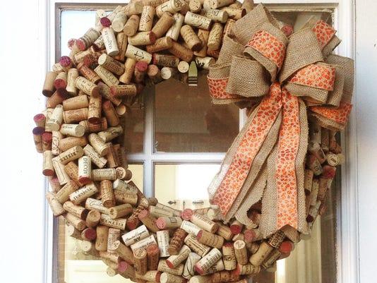 fresh12 - wine cork wreath