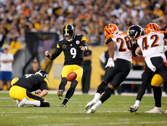 Steelers kicker Chris Boswell made seven kicks against the Bengals in the first meeting between the teams in 2017.