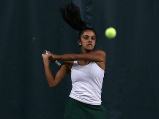 Montgomery's Rhea Shrivastava is the Courier News Girls Tennis Player of the Year.