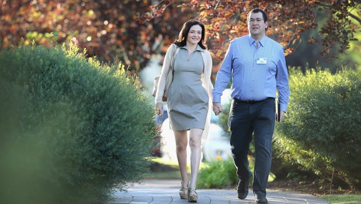 Dave Goldberg and his wife, Facebook COO Sheryl Sandberg,
