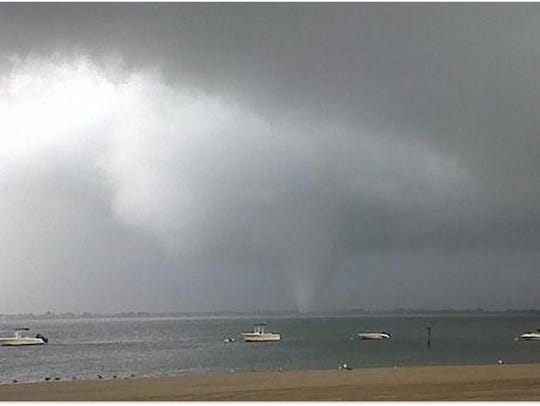 Tornado that touched down in the Breezy Point section