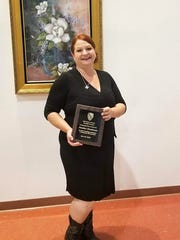 Heather Henderson was presented the LULAC Community Hero of the Year award at this year's Alamogordo Chamber of Commerce annual banquet Saturday at the Tays Special Events Center.