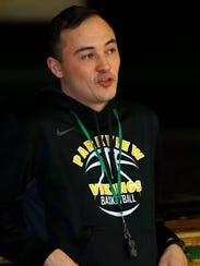 Head coach Landon Cornish at the Parkview High School