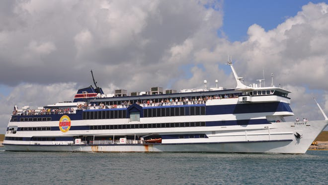 The Victory 1 gambling ship will resume its sailings from Port Canaveral on Thursday, sailing twice a day, except for Mondays and Tuesdays.