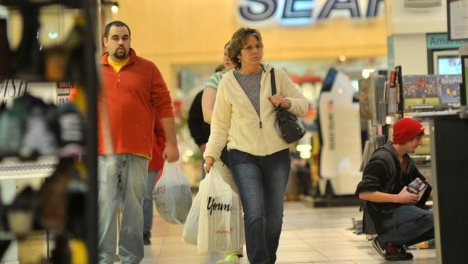 Shoppers at Wausau Center mall.