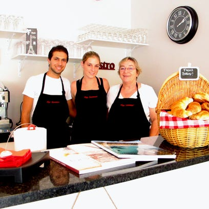 Bernadette Georges, right, co-owns the new Café Gourmand