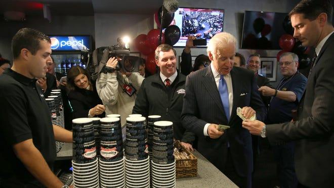 Vice President Biden borrows some lunch money.
