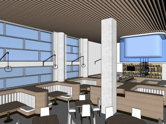 A preliminary rendering of The Rutledge restaurant,