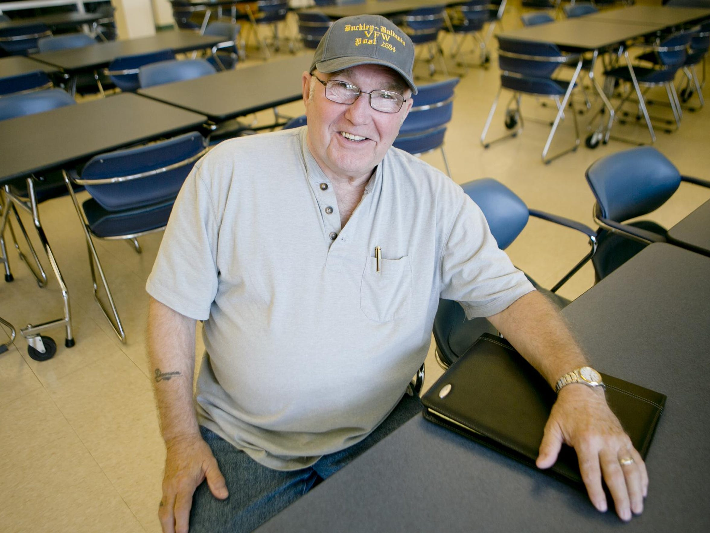 Bill Haack of Wisconsin Rapids poses at the Lowell Center in Wisconsin Rapids, Tuesday, July 21, 2015.
