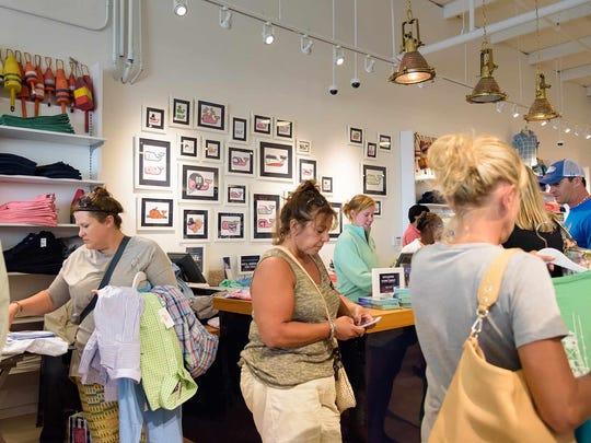 Vineyard Vines location at Tanger Outlet Mall in Rehoboth Beach was busy last Tuesday.