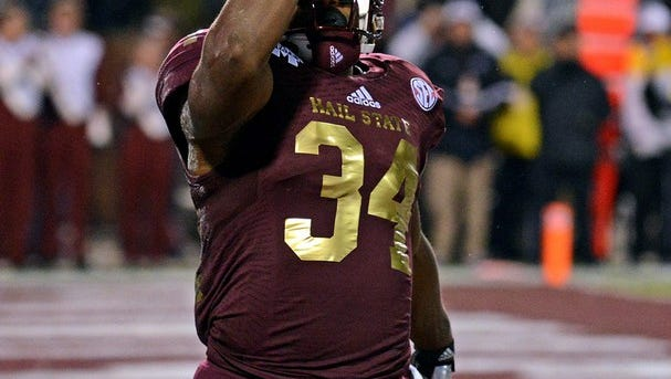 Mississippi State junior Josh Robinson leads a host of running backs in camp this season.