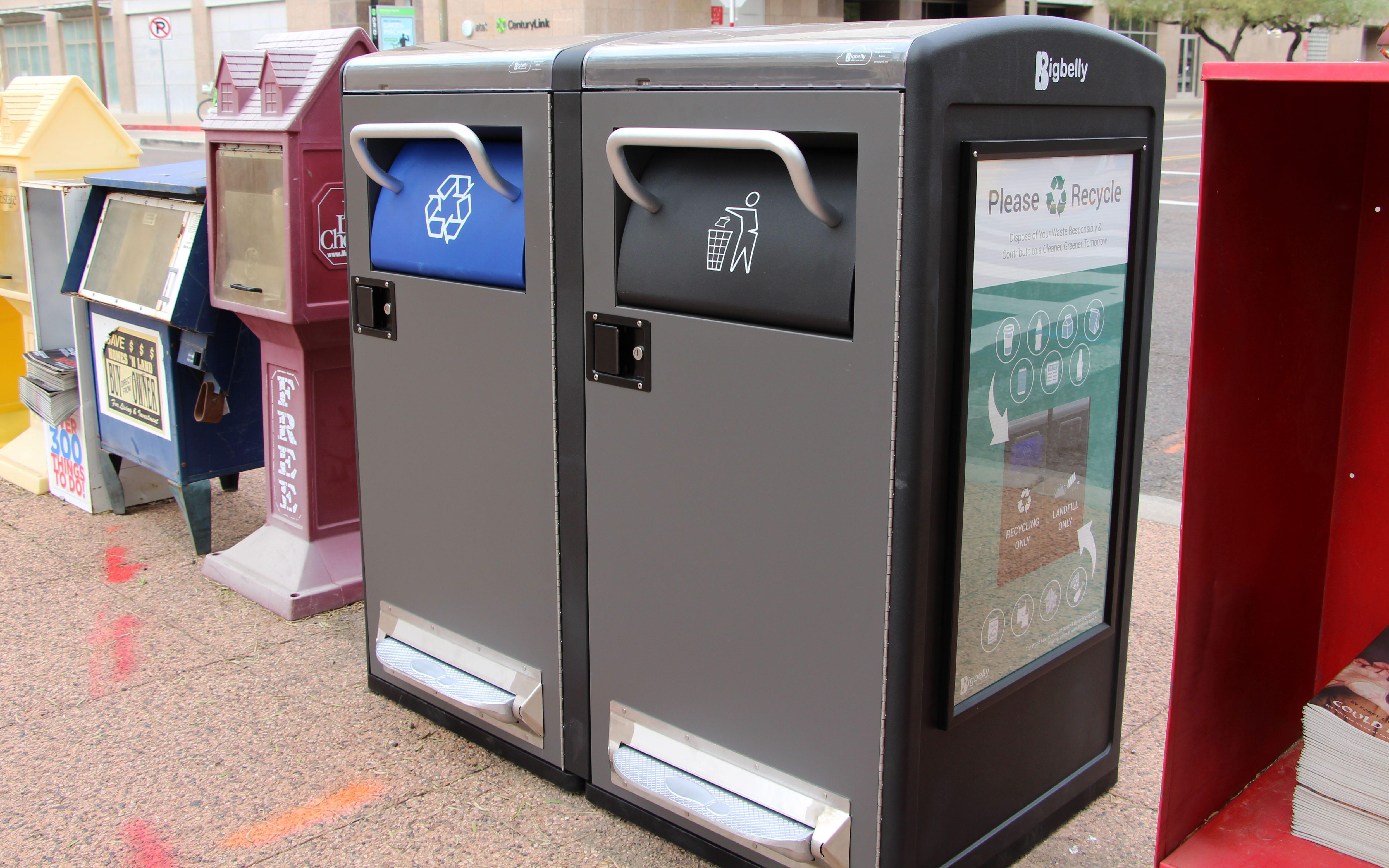 trash bins compact phoenix waste decrease trash collections