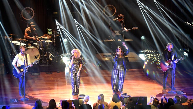 Jimi Westbrook, Kimberly Schlapman, Karen Fairchild and Phillip Sweet are Little Big Town, which kicked off a six-show residency at the Ryman Auditorium on Friday, Feb. 24, 2017.