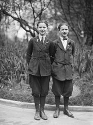 Twins John and Charles Knier, each 14, raised vegetables