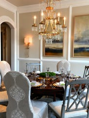 The dining room in the house presented by Ford Custom