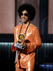 Prince at the 2015 Grammys.