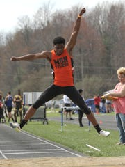 Mansfield Senior's Angelo Grose owns the state's best long jump of 24-5.25, achieved last week at the Marion Night Relays.