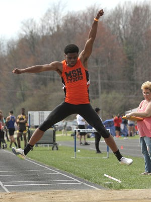 A decathlete this past summer at the AAU nationals, Mansfield Senior sophomore Angelo Grose popped a 22-foot long jump in his first attempt outdoors this spring.