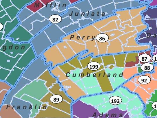 Pennsylvania's 82nd Legislative District  (shown in