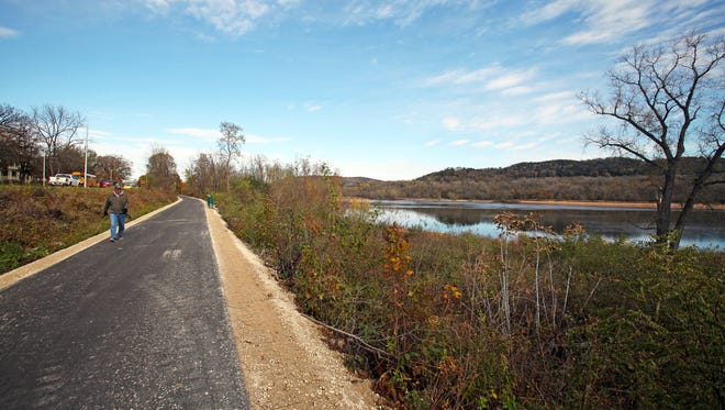 The Great Sauk State Trail opened in October in Sauk County. The trail runs just over five miles along the Wisconsin River from Sauk City to the southern boundary of the Sauk Prairie State Recreation Area, with plans to eventually connect it with Devil's Lake State Park.