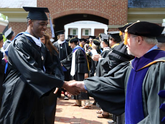 Brevard College has a graduation rate of 43 percent,