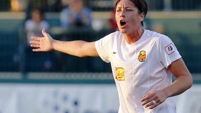 Abby Wambach probably will be playing for the Flash in their May 2 home opener against Boston.