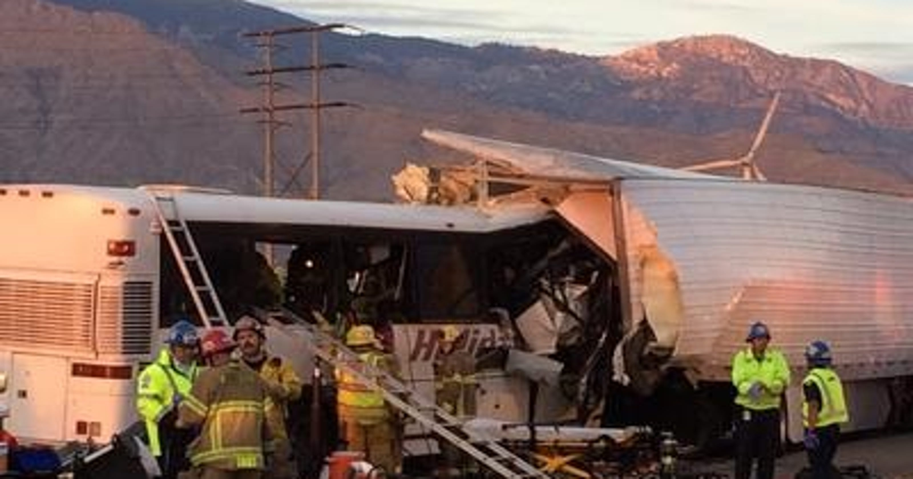Manslaughter charges for trucker in bus crash that killed 13 in Palm