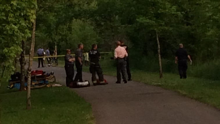 Police are searching for a suspect who stabbed a woman