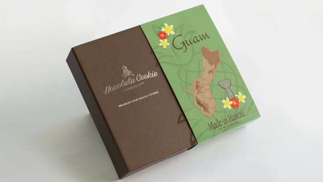 The Honolulu Cookie Company Guam Gift Box.