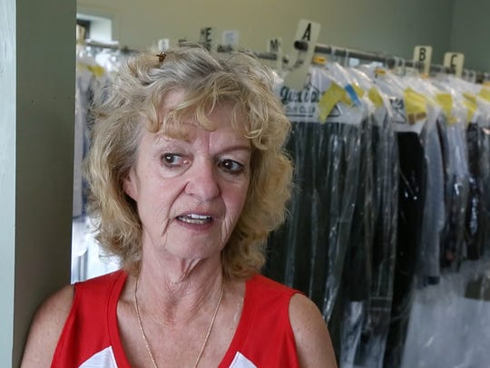 Kathy Fay, clerk at Julian's Dry Cleaning near Chick-fil-A
