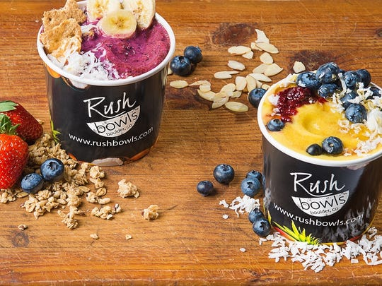 Rush Bowls makes meals from blended fruit, protein