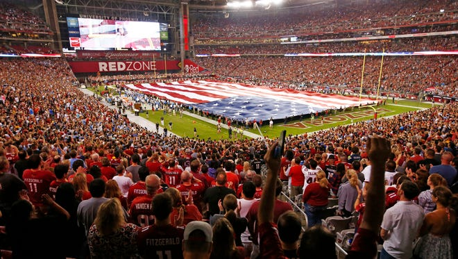 Cardinals play the San Diego Chargers during Monday Night Football on Sep. 8, 2014 at University of Phoenix Stadium in Glendale, AZ.\