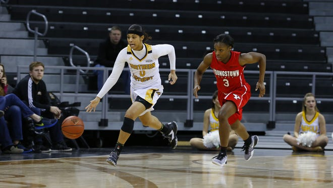 Shar'Rae Davis is leading NKU in assists and 3-point shooting percentage after 16 games.