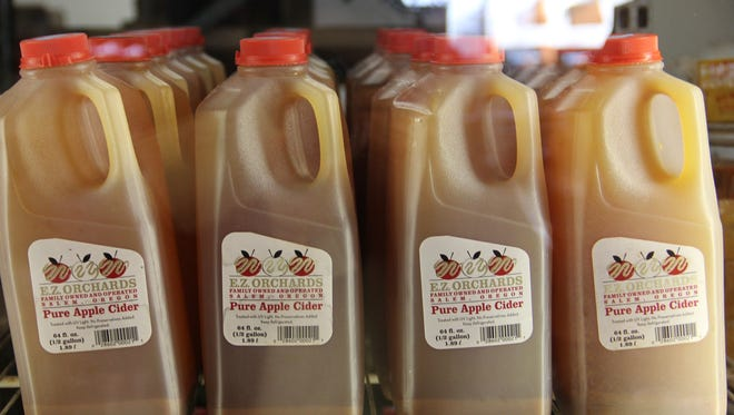Unfiltered cider is available at E.Z. Orchards, as well as hard cider.