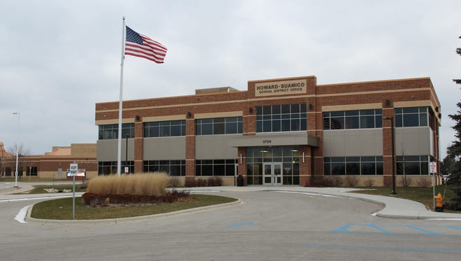 The Howard-Suamico School District office building in Suamico.