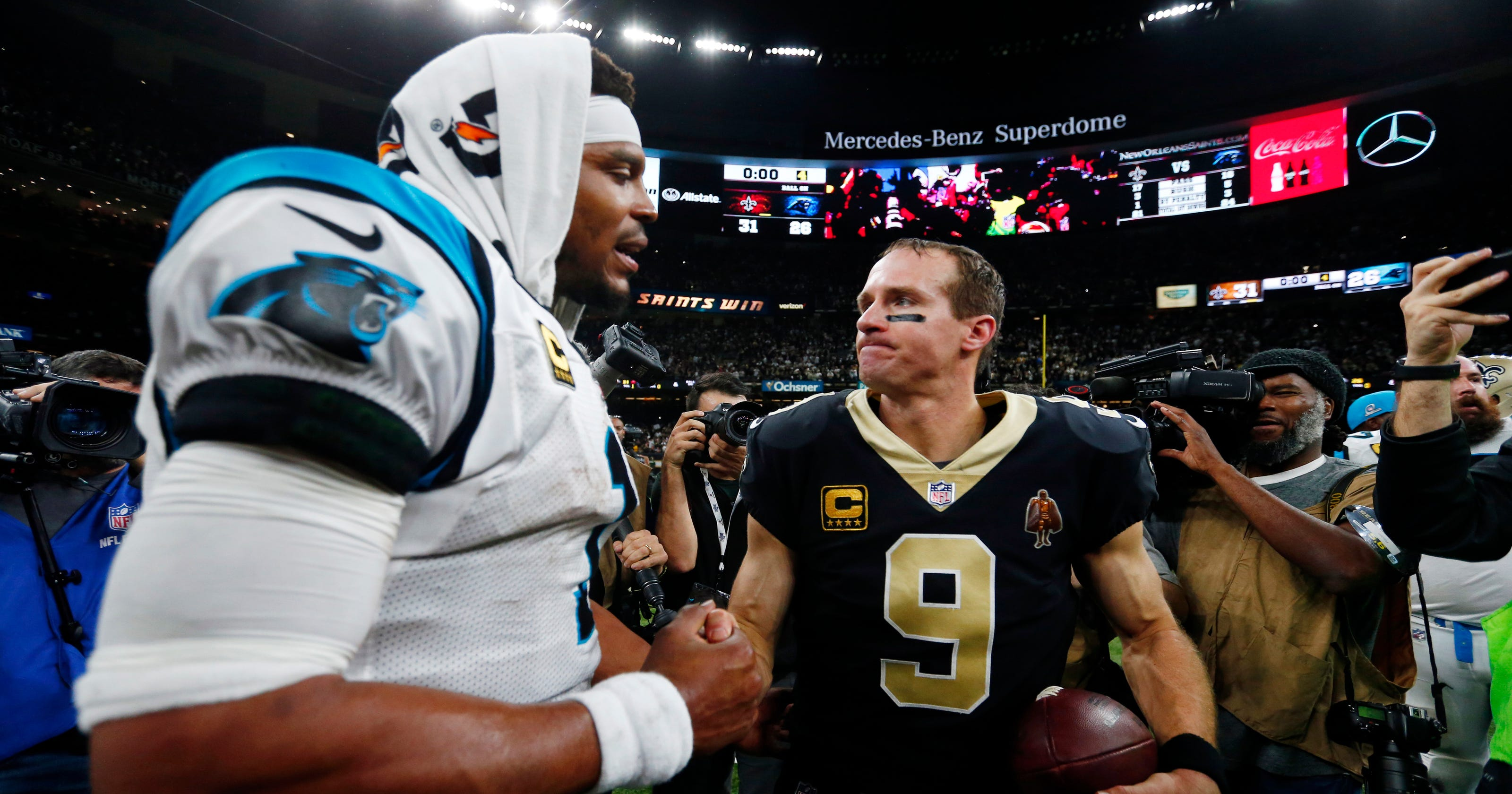 494defc8 New Orleans Saints beat the Carolina Panthers in the NFL playoffs